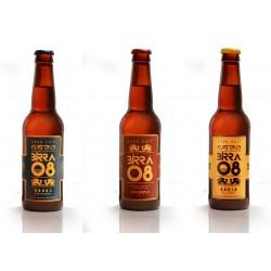 Pack cervezas artesanas Birra 08 (4 Clot, 4 Eixample y 4 Barceloneta)