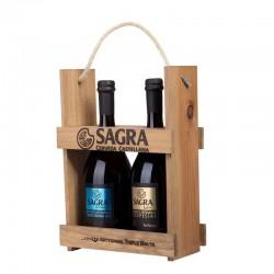 Estuche Madera Doble: Cerveza Bohio Y Suxinsu 75 Cl