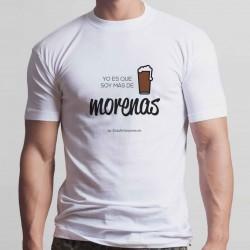 """Camiseta """"Soy más de morenas"""""""