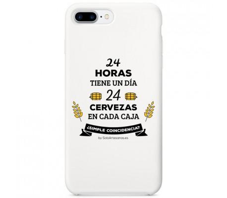 "Carcasa para móvil ""24 horas"" (blanca)"