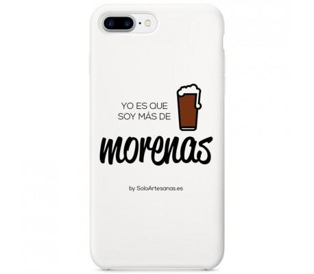 """Carcasa para móvil """"Soy más de morenas"""" (blanca)"""